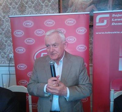 Leszek Miller w Żaganiu 17 maj 2013 r.